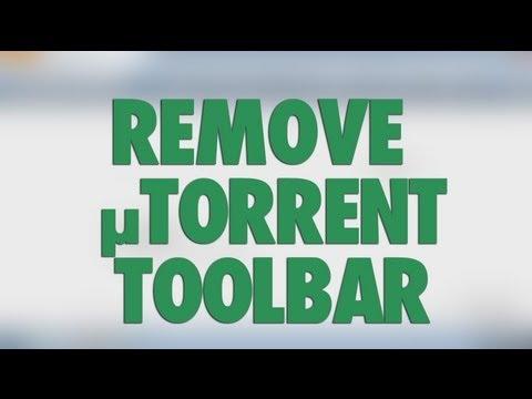 Remove uTorrent Browser Bar