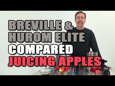 Breville & Hurom Elite Juicers Compared Juicing Apples