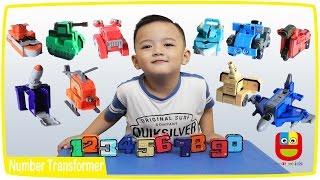 Mainan Anak Angka Berubah Jadi Robot - Belajar Warna - Learn Play Numbers Colors
