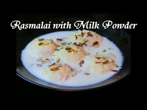 Rasmalai with Milk Powder
