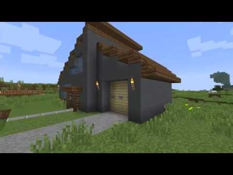 Minecraft: how to build a arched roof modern house