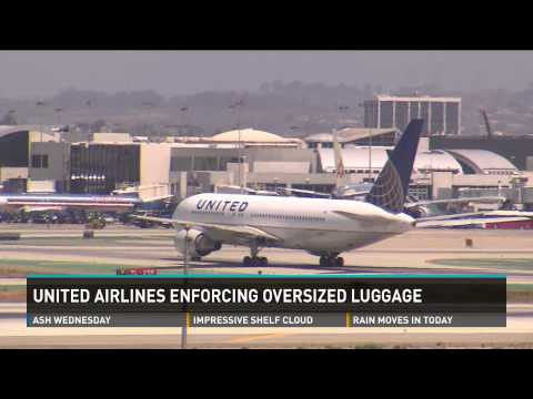 United Airlines charging extra fees for oversized carry-on luggage