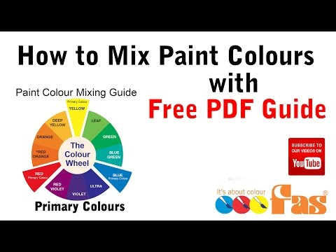 How to Mix Paint Colours Tutorial with Free Download PDF Chart - DIY For Beginners