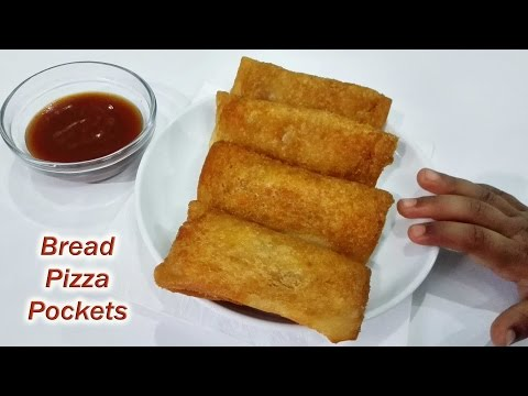 Bread Pizza Pockets Recipe ||  ब्रेड पिज़्ज़ा पॉकेट्स| How to make Pizza Pockets at Home