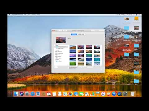 HOW TO CHANGE DESKTOP IMAGE OR WALLPAPER ON MAC IN HIGH SIERRA