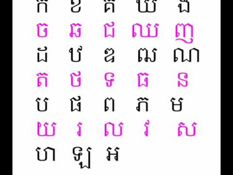 Learn Cambodian Consonants