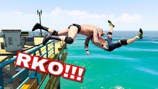 GTA V WRESTLING LIKE IN WWE #3 (Spinebuster, RKO, AA, and more)