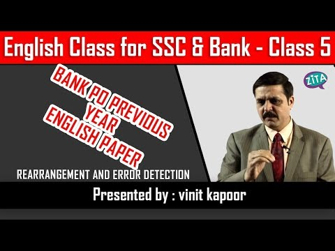 Bank PO Pre English|Previous Year Bank PO English Paper Discussion|Error Discussion & Rearrangement