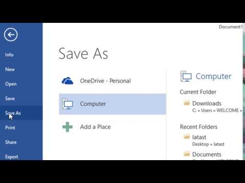 How to Recover Microsoft Word files unsaved or lost
