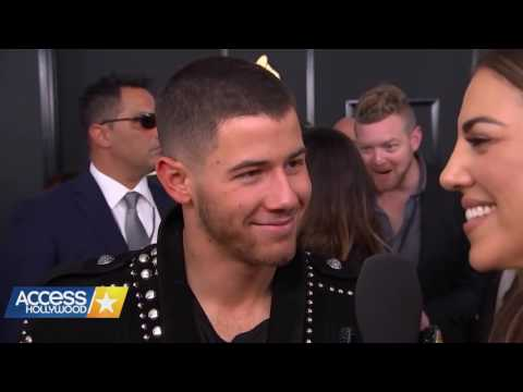 Nick Jonas Suggests Baby Names For Beyoncé's Twins (Grammys 2017)