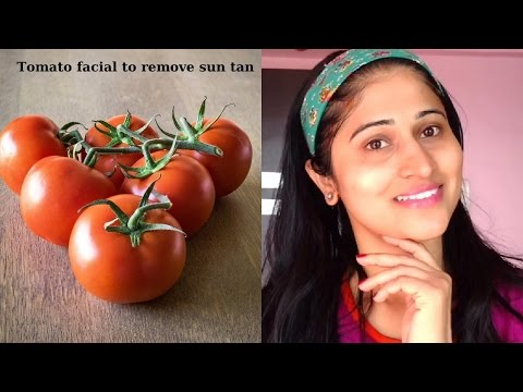 Tomato facial at home in hindi  टमाटर फेशियल | How to remove suntan from face