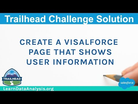 Create a Visualforce page that shows user information | Salesforce Trailhead Solution