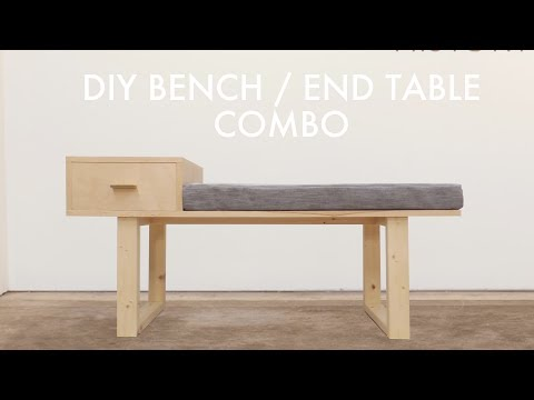 DIY Platform Bench With Built In Side Table | Modern Builds | EP. 65