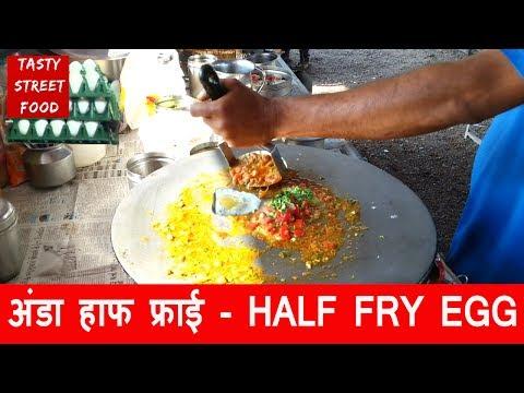 EGG HALF FRY - How to Make ? EGG DISH - YADAV Omelette Center
