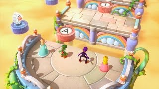 Mario Party 10 - Peach loses by doing absolutely everything.