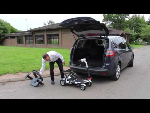 How to get a TGA Minimo Plus 4 mobility scooter into the boot of a car