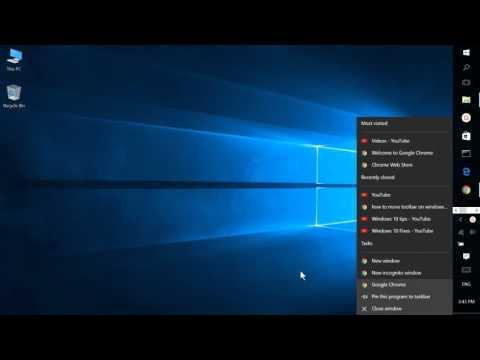 Windows 10, Move the Taskbar to Top