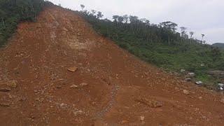 Raw: Drone Video Shows Sierra Leone Mudslide