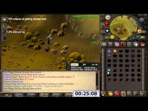 Mining With Varrock Armour 3 (73.7k xp/hr)