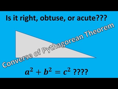 Converse of Pythagoras Theorem (Acute, Right or Obtuse)