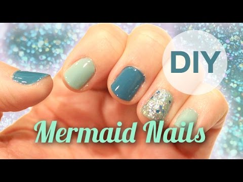 DIY Mermaid Nails | ArtsyPaints