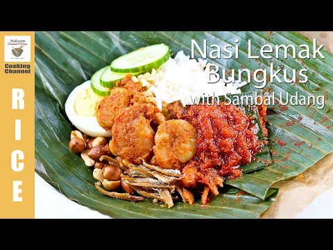 Nasi Lemak Bungkus with Sambal Udang | Malaysian Chinese Kitchen