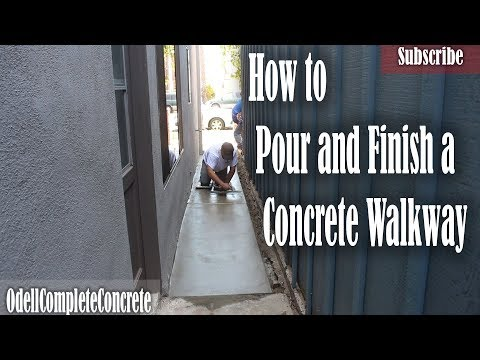 How to pour and finish a Concrete Side-yard walkway