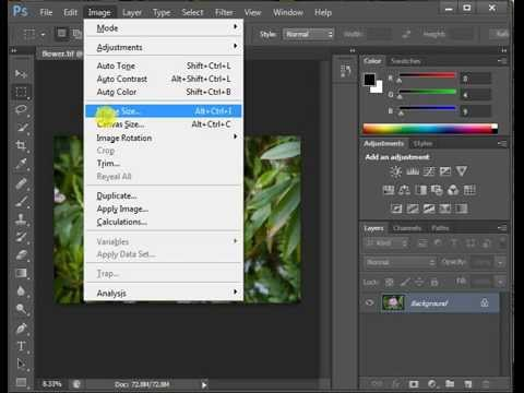 how to change image file size in photoshop cs6