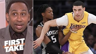 Lonzo Ball needs to be more like De'Aaron Fox - Stephen A. | First Take