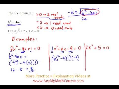 Discriminant (Quadratics) - Simple Introduction!