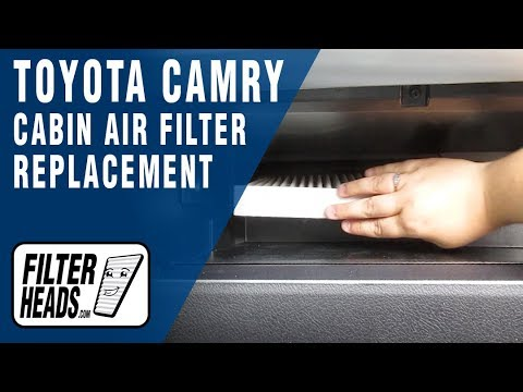 How to Replace Cabin Air Filter 2016 Toyota Camry