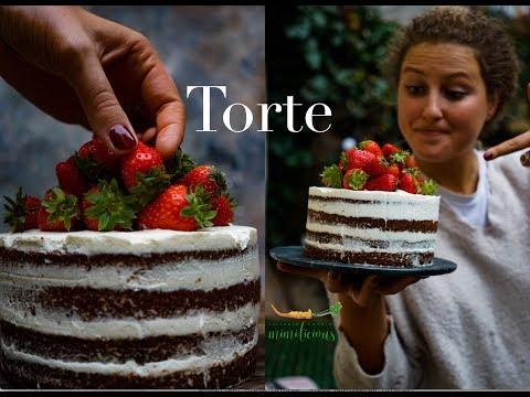 Saftige Schoko-Mascarpone-Sahne Torte mit Erdbeeren / Mimilicious