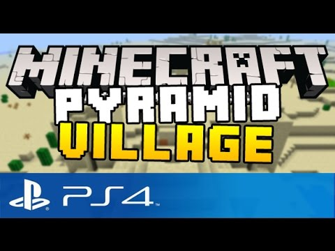 Minecraft PS4 - PYRAMID VILLAGE SEED ( NoTcH Seed on Minecraft Playstation 4 Edition )