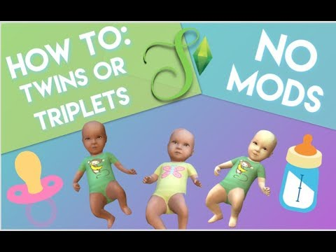 HOW TO: Get twins or triplets in The Sims 4 - NO MODS | Simology