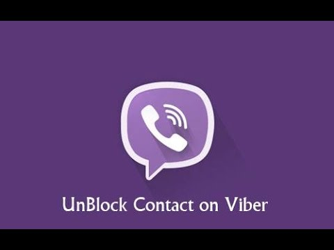 Unblock Numbers / Contact On Viber