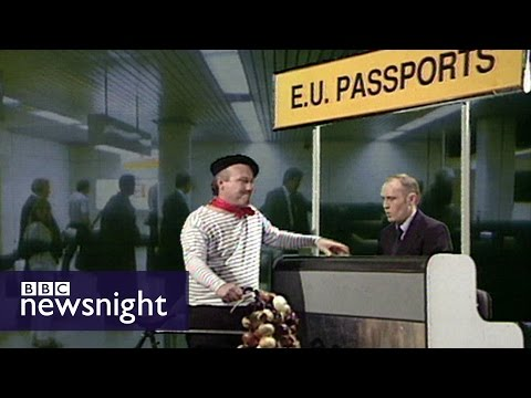 Paxman on the new EU passport (Newsnight archives 1995) - BBC Newsnight