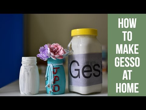 How to make Gesso at home|DIY Gesso|How to paint glass