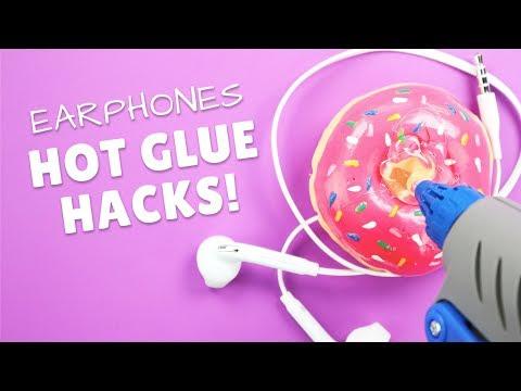 3 Cool Earphones Holders Made With Hot Glue | Hot Glue Gun Life Hacks