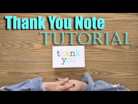 How to Write a Thank You Note Tutorial! | The Intern Queen