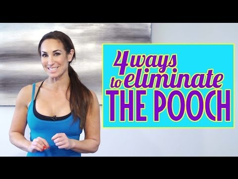 How to Lose Belly Fat and Get Rid of the Pooch | Natalie Jill