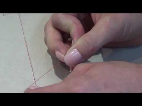1. How to thread a needle and tie a knot