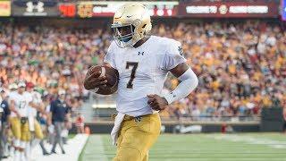 HIGHLIGHTS: Brandon Wimbush Runs Rampant in Notre Dame