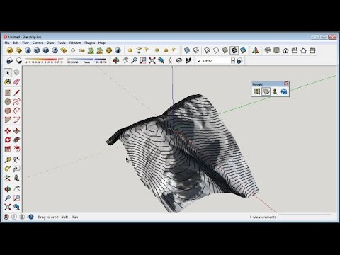 Sketchup Contour Lines Google Map Tutorial