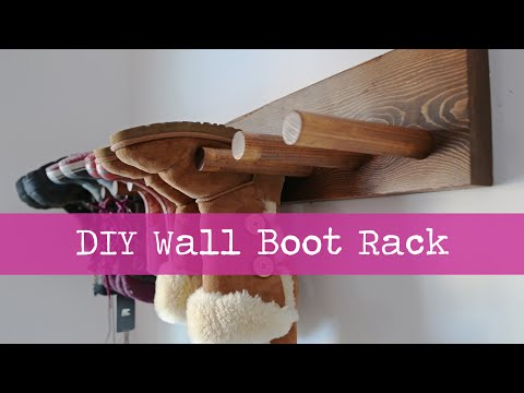 DIY Wall Boot Rack Plans