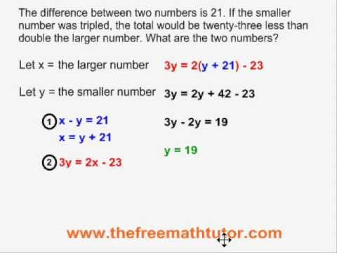 Word Problems With 2 Unknowns - Example 3
