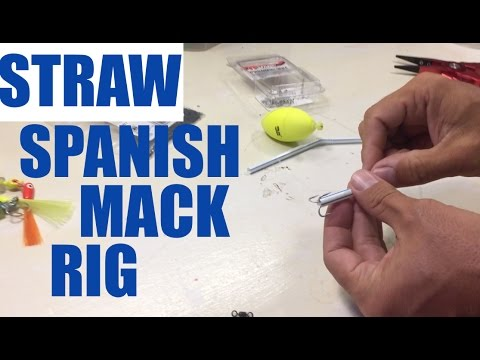 How to make a Spanish Mackerel rig with a Straw - Fishing Pensacola Florida