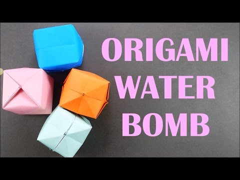 How To Make Origami Waterbomb - Paper Balloon Easy Tutorial for Beginners - Paper Bomb