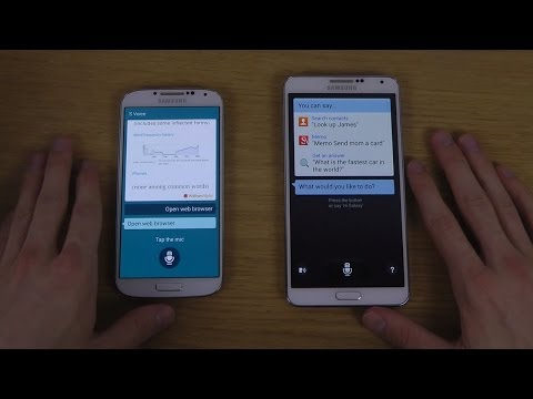 Samsung Galaxy S5 S Voice vs. Samsung Galaxy Note 3 S Voice Android 4.4.2 KitKat Comparison Review