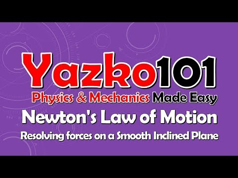 Newton's Law of Motion - Resolving forces on a Smooth Inclined Plane - Mechanics M1