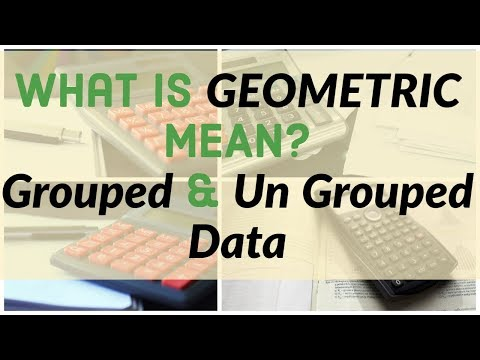 What is Geometric Mean (GM)? For grouped and Un grouped data